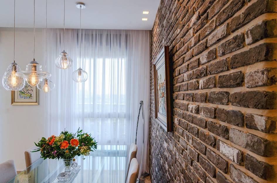קיר לבנים כאלמנט עיצובי