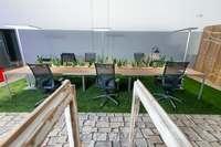 עיצוב בירוק , חלל משרד ובית קפה