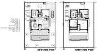 תכנית קומת הקרקע והקומה הראשונה