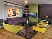 עיצוב סלון וחדרי משפחה